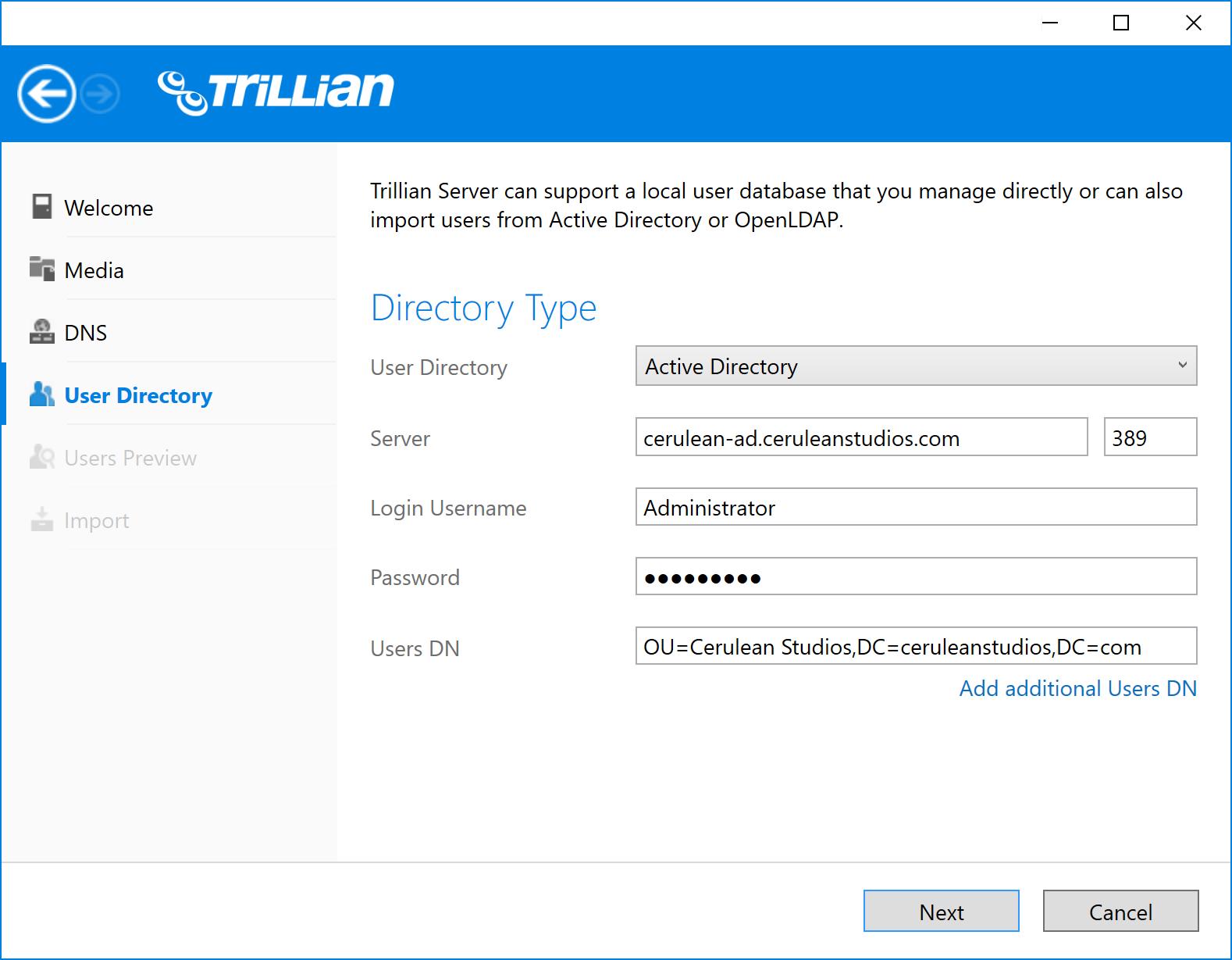 Server Documentation   Trillian